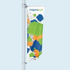 Street Banner Select, potence en haut, en bas avec fixation à œillet