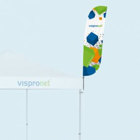 Bowflag® Basic - bord inférieur convexe, imprimé