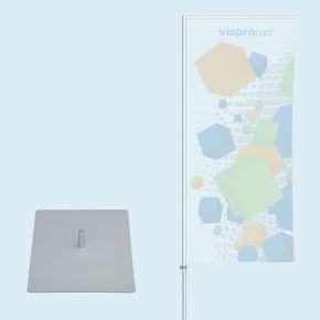 Mât Economy avec platine 30 x 30 cm   Vispronet®