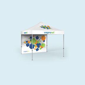 Tente pliante Select 3 x 3 m imprimée, avec une paroi pleine (motif à l'intérieur)