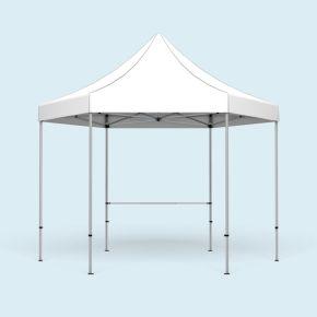 Pavillon pliable Select Hexagon + 1 barre transversale pr cloison mi-hauteur