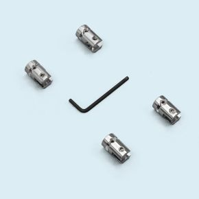 Pinces inox pour câble murs & plafonds ø 16 mm, panneau 1-5 mm, kit de 4