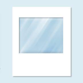 Cloison blanche avec fenêtre panoramique, sans impression, 200 x 235 cm
