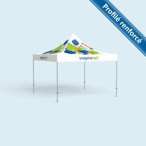 Pavillon Select 4 x 4 m, sans parois, toit + volants imprimés