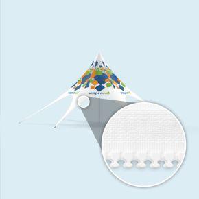 Chapiteau étoile - imprimé, avec fermetures éclair pour parois de tente