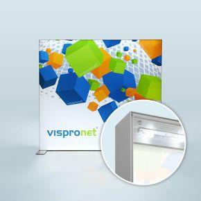 Stand d'affichage Q-Frame® LED - paysage, profilé 120 mm