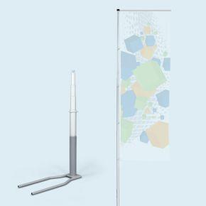 Mât télescopique T-Pole® 100 avec pied Economy