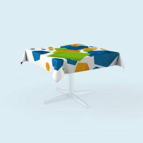 Nappe de table carrée, personnalisable en ligne