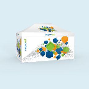Pavillon pliant Select 3 x 4,5 m avec 4 parois, imprimé