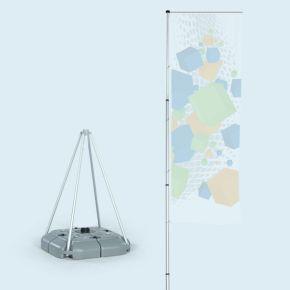 T-Pole® 200 + pied plastique remplissable d'eau, 70 l
