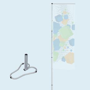 T-Pole® 200 avec pied autocal (pied lestable par une roue de voiture)