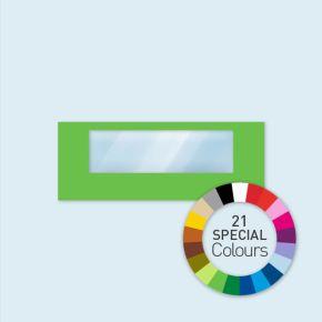 Cloison avec 1 fenêtre panoramique Select 600 x 220 cm - tons directs, côtés avec fixations velcro