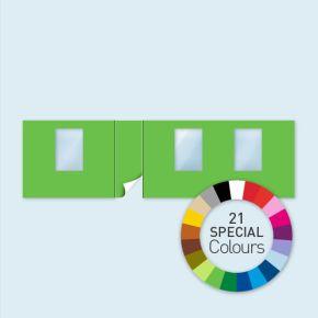 Cloison avec 1 porte côté gauche + 3 fenêtres Select 800 x 220 cm - tons directs, côtés avec rubans crochet