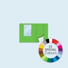 Paroi avec 1 porte à droite + 1 fenêtre à gauche Basic/ Select/ Eco 300 x 205 cm - tons directs, côtés avec fermeture à glissière
