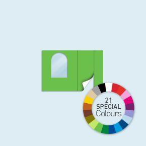 Cloison avec 1 porte à droite + 1 fenêtre arquée à gauche Basic/ Select/ Eco 300 x 205 cm - tons directs, côtés avec fermeture à glissière