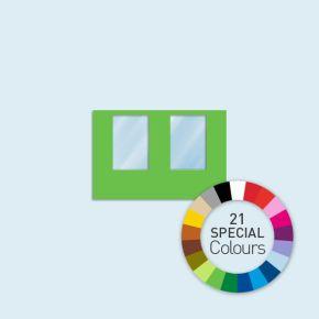 Cloison avec 2 fenêtres 300 x 205 cm Basic/ Select - existe en 21 tons directs