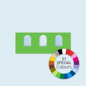 Cloison avec 3 fenêtres cintrées Select 600 x 220 cm - tons directs, côtés avec rubans velcro