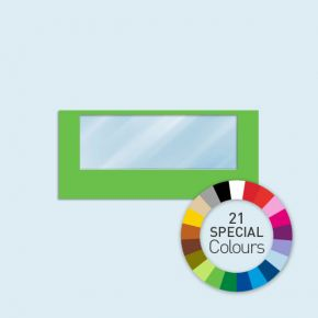 Cloison avec 1 fenêtre panoramique 450 x 205 cm - 21 tons directs au choix