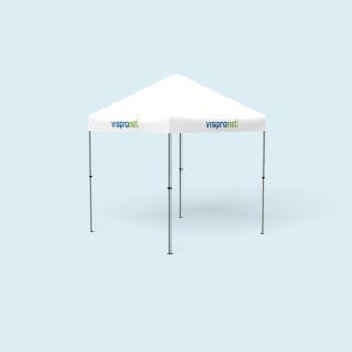 Pavillon pliable Compact 2,5 x 2,5 m, seulement la jupe du toit est imprimée