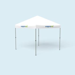 Pavillon pliable Compact 3 x 3 m - seulement la jupe du toit est imprimée